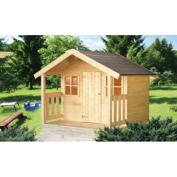 Casita de madera infantil flix for Casita madera jardin