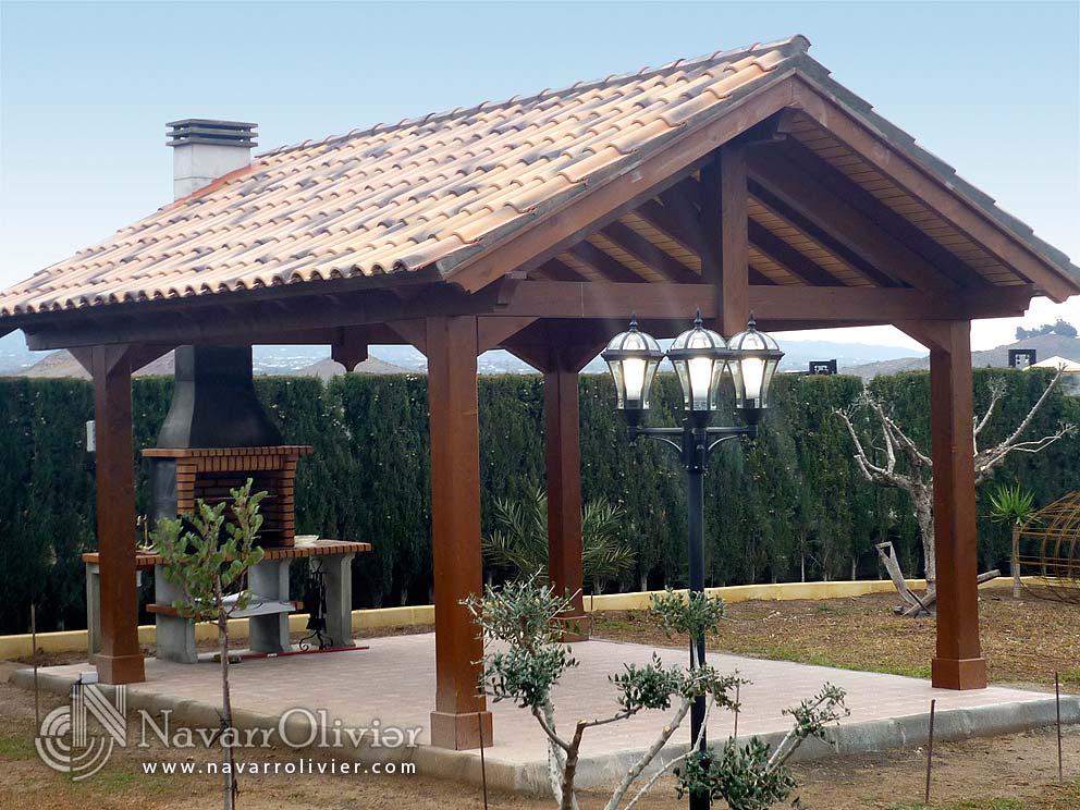 Pergolas porches y cenadores de madera navarrolivier - Cenadores y pergolas ...