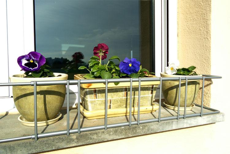 soporte de macetas para ventanas