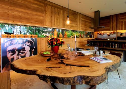 Mesas de troncos de madera en roble for Mesas de troncos de arboles