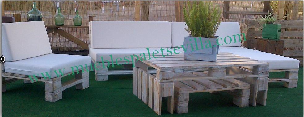 Conjunto muebles de jardin muebles palets sevilla - Conjuntos muebles jardin ...